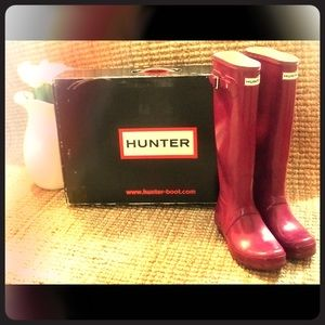 Hunter Original Tall Gloss - Violet